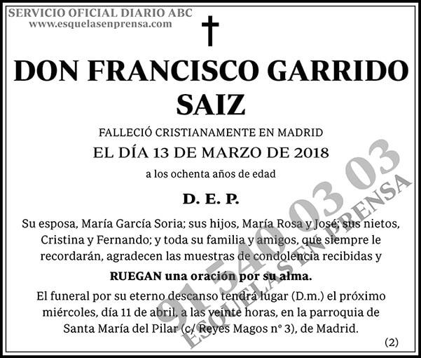 Francisco Garrido Saiz